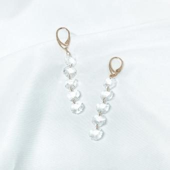Kolczyki LARA srebrne pozłacane z kryształami Swarovskiego