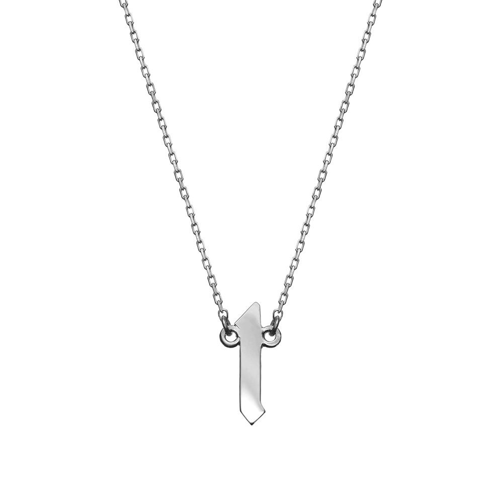 Naszyjnik BELIEVE srebrny z literą L