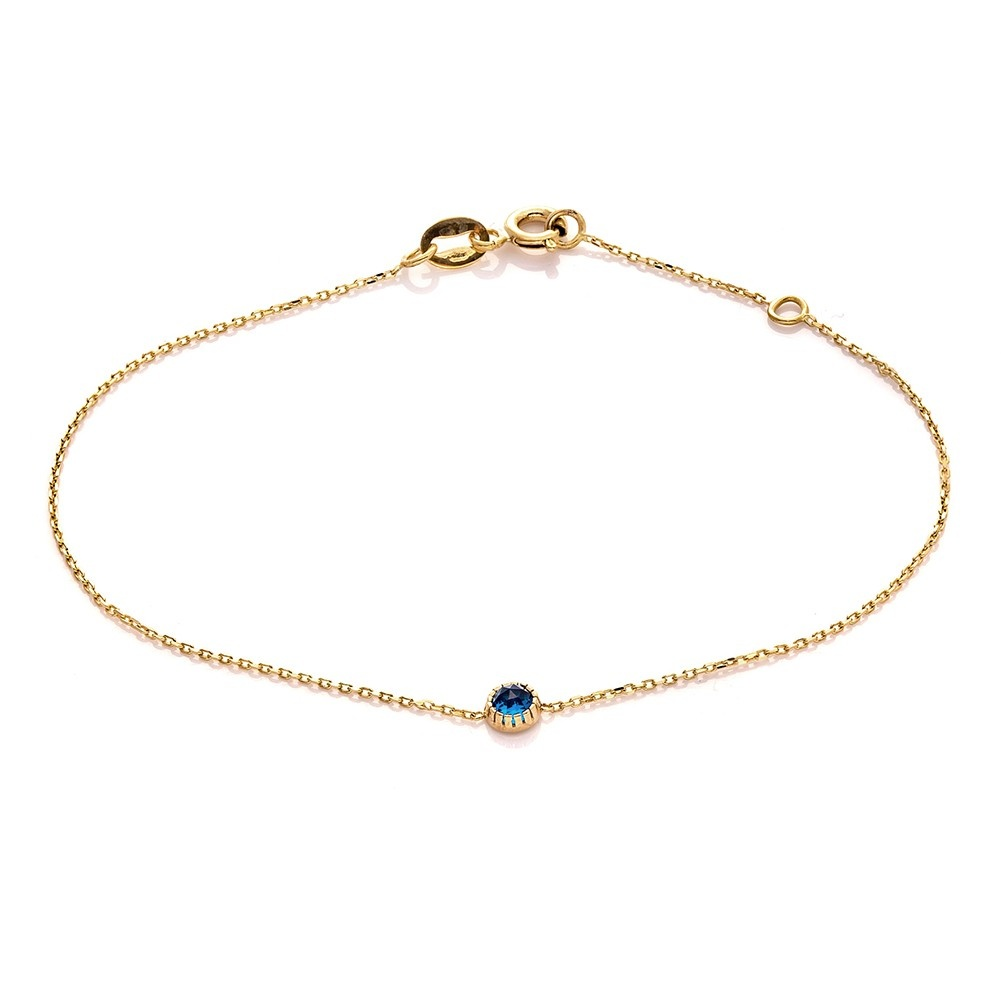 Bransoletka DOLCE VITA złota z niebieskim kwarcem