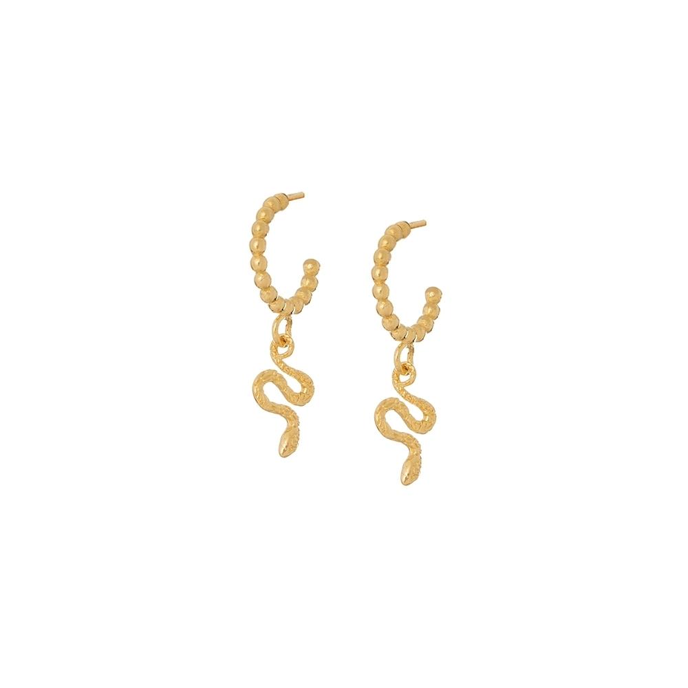 Kolczyki VINTAGE srebrne pozłacane z wężami